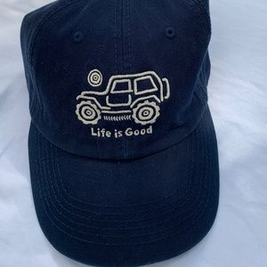 NWT Life is Good Navy Cotton Cap, Off the Road